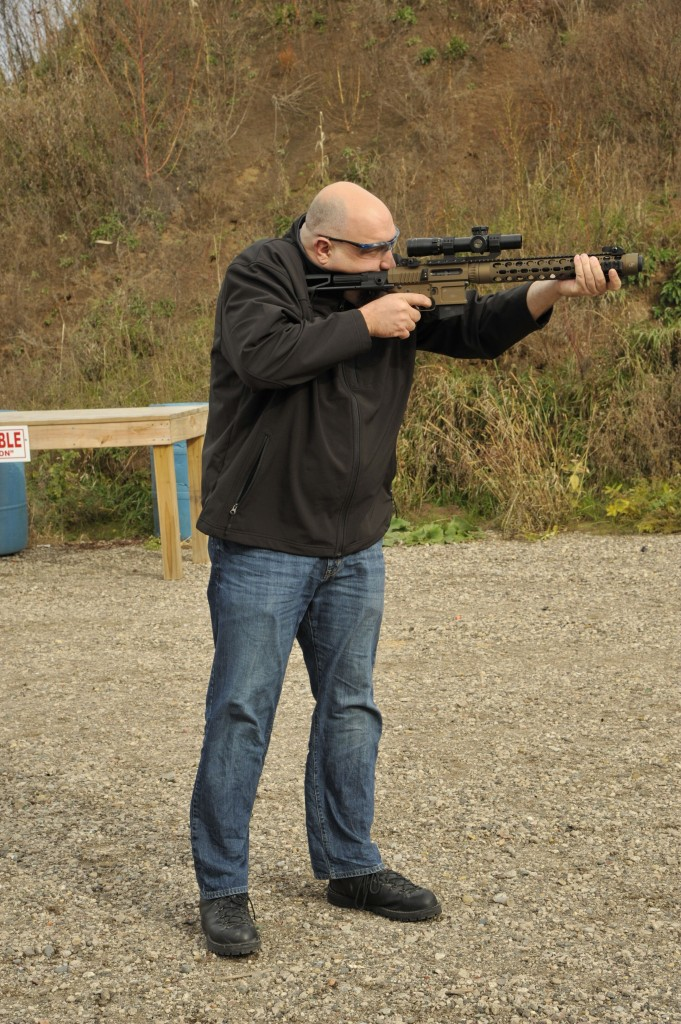 Yep, I'm not wearing ears. .300 subsonic with can. This thing was ridiculously quiet.