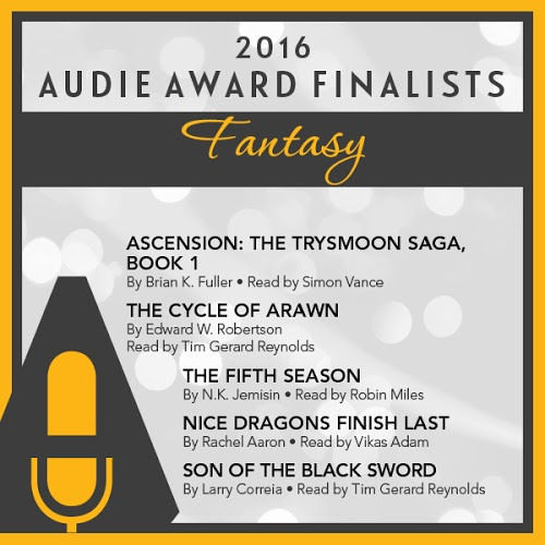 son of the black sword is an audie award finalist best fantasy 2016